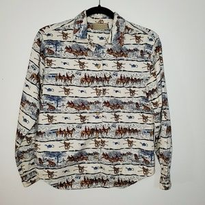 Vintage Lizwear Petite equestrian blouse